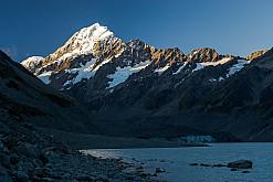 Am Fuße des Hooker Gletschers