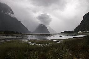 Milford Sound im Nebel