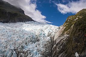 Fox Glacier von oben