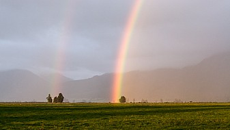 Regenbogen am Abend