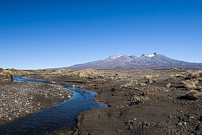Mt. Ruapehu nach einem Lahar
