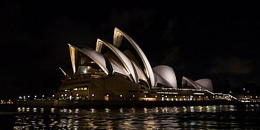 Sydney Opera House in der Nacht