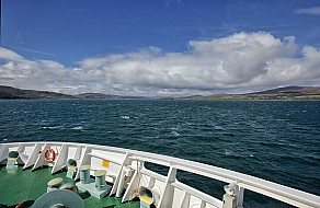 "Fähre ""Finnlaggan"" mit Kurs auf Islay"