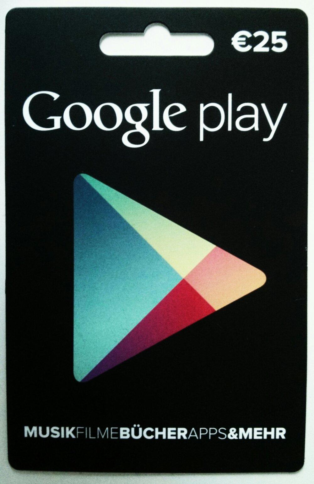 Google play Geschenkgutscheine