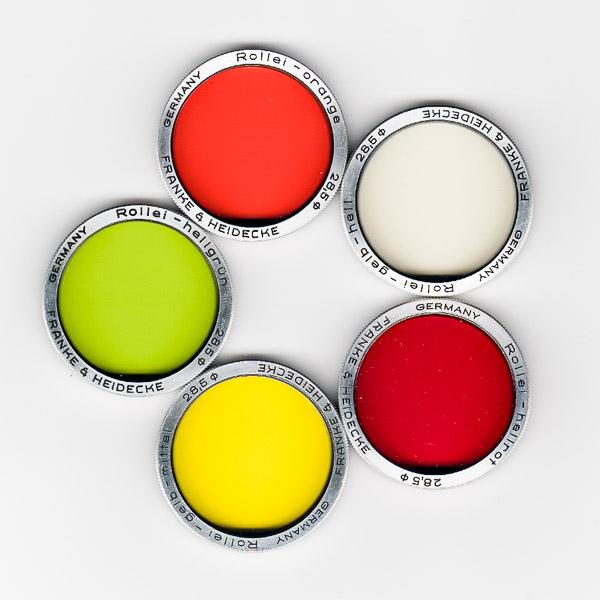 Farbfilter bei analoger SW-Fotografie