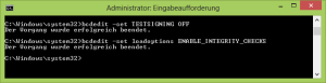 Testmodus unter Windows 8 deaktivieren