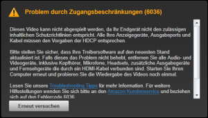 T430: Fehler 6036 bei Amazon Instant Video