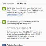 Gültige TLS-Verbindung